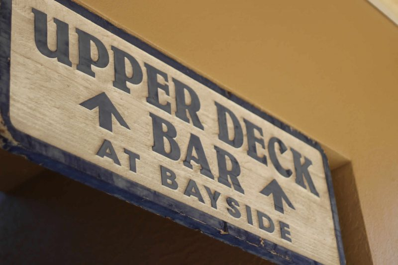 Sign to Upper Deck at Bayside