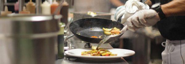 Chef Plating Food at Bayside