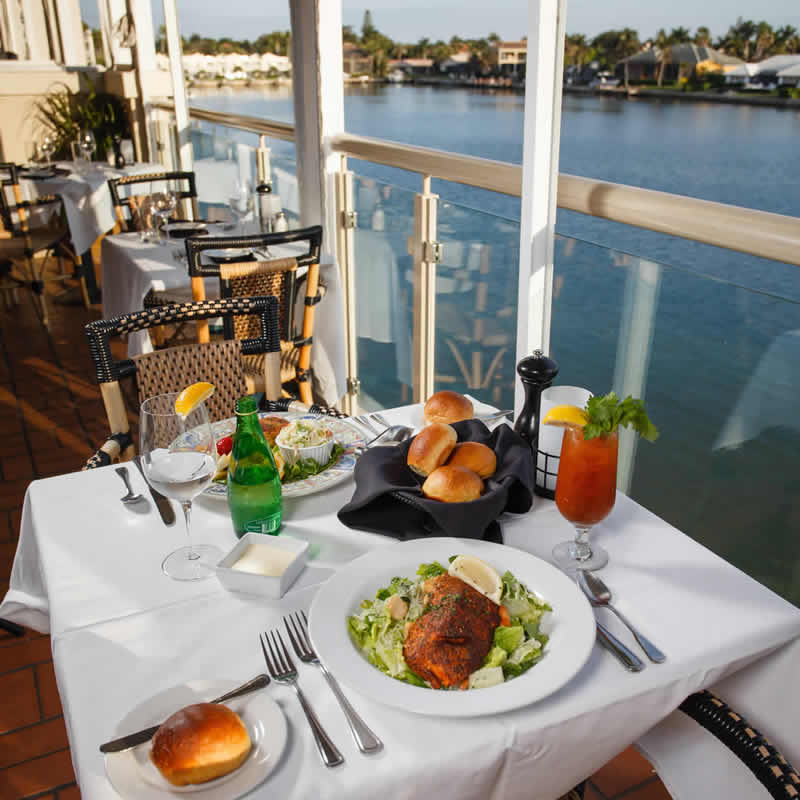 Table for Two at Bayside With Bay Views