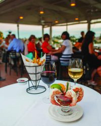 Food and Wine on Bayside's Upper Deck